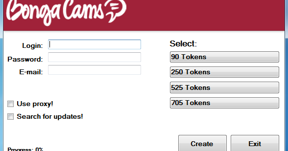 how to get free tokens on bongacams